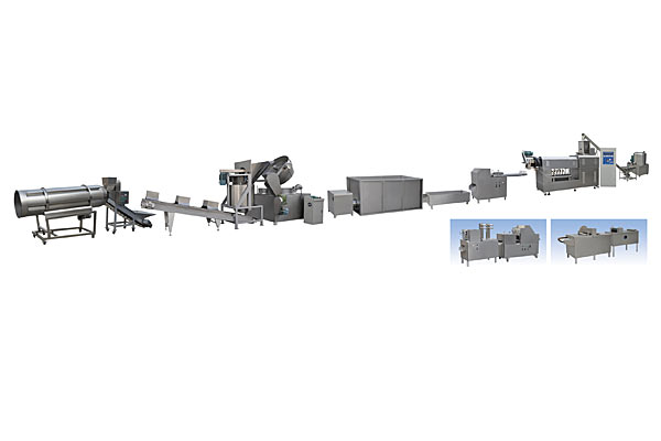 Spiral/Shell/Extruded Fry Food Production Line