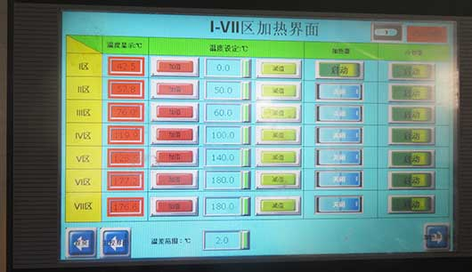 PLC touch screen operation, simple and fast
